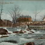 The Lower Falls and Bridge Newton, MA